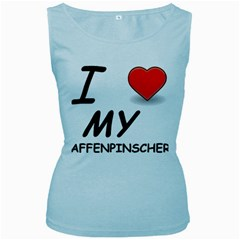 Affen Love Women s Tank Top (Baby Blue)