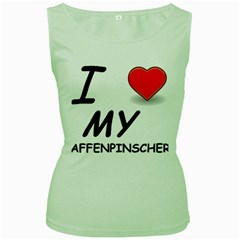 Affen Love Women s Tank Top (Green)