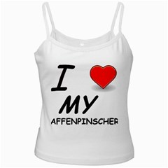 Affen Love White Spaghetti Top