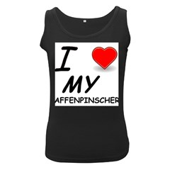 Affen Love Women s Tank Top (Black)