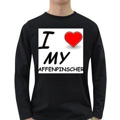 Affen Love Men s Long Sleeve T-shirt (Dark Colored)