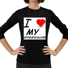 Affen Love Women s Long Sleeve T-shirt (Dark Colored)