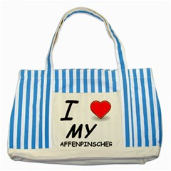 Affen Love Blue Striped Tote Bag