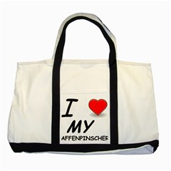 Affen Love Two Toned Tote Bag