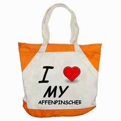 Affen Love Accent Tote Bag