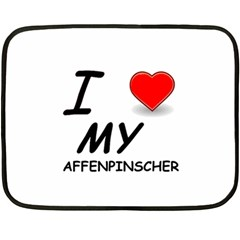 Affen Love Mini Fleece Blanket (Two Sided)