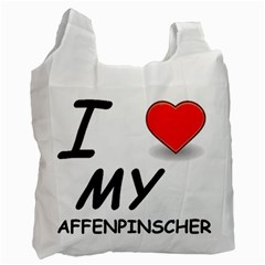 Affen Love White Reusable Bag (One Side)