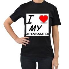 Affen Love Women s T-shirt (Black)