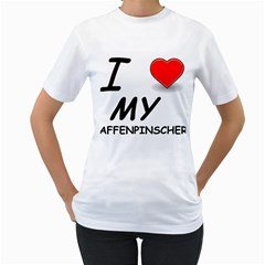 Affen Love Women s T-Shirt (White)