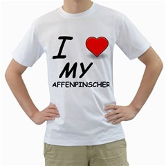 Affen Love Men s T-Shirt (White)