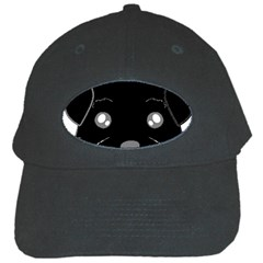 Affenpinscher Cartoon 2 Sided Head Black Baseball Cap