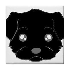 Affenpinscher Cartoon 2 Sided Head Ceramic Tile