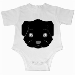 Affenpinscher Cartoon 2 Sided Head Infant Bodysuit