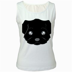 Affenpinscher Cartoon 2 Sided Head Women s Tank Top (White)