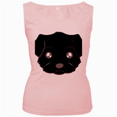 Affenpinscher Cartoon 2 Sided Head Women s Tank Top (Pink)