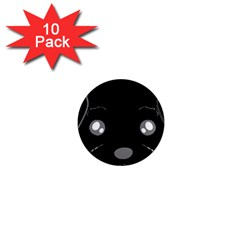 Affenpinscher Cartoon 2 Sided Head 1  Mini Button Magnet (10 pack)