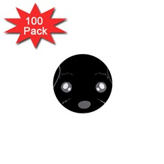 Affenpinscher Cartoon 2 Sided Head 1  Mini Button Magnet (100 pack)