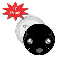 Affenpinscher Cartoon 2 Sided Head 1.75  Button (10 pack)