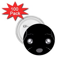 Affenpinscher Cartoon 2 Sided Head 1.75  Button (100 pack)