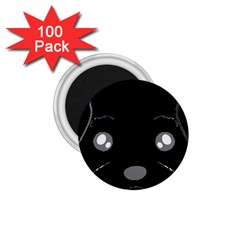 Affenpinscher Cartoon 2 Sided Head 1.75  Button Magnet (100 pack)