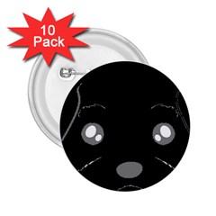 Affenpinscher Cartoon 2 Sided Head 2.25  Button (10 pack)