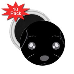 Affenpinscher Cartoon 2 Sided Head 2.25  Button Magnet (10 pack)