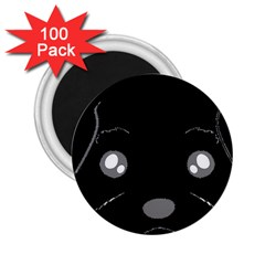 Affenpinscher Cartoon 2 Sided Head 2.25  Button Magnet (100 pack)