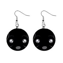 Affenpinscher Cartoon 2 Sided Head Mini Button Earrings