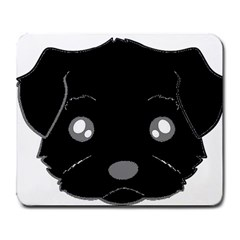 Affenpinscher Cartoon 2 Sided Head Large Mouse Pad (Rectangle)