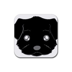 Affenpinscher Cartoon 2 Sided Head Drink Coasters 4 Pack (Square)