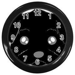 Affenpinscher Cartoon 2 Sided Head Wall Clock (Black)