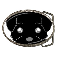 Affenpinscher Cartoon 2 Sided Head Belt Buckle (Oval)