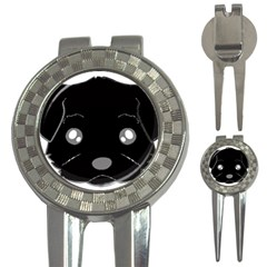 Affenpinscher Cartoon 2 Sided Head Golf Pitchfork & Ball Marker