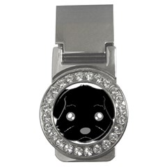 Affenpinscher Cartoon 2 Sided Head Money Clip (CZ)