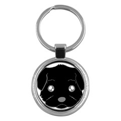 Affenpinscher Cartoon 2 Sided Head Key Chain (Round)