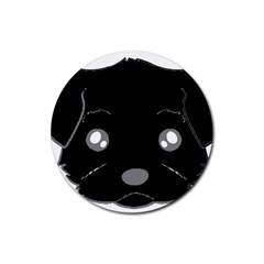 Affenpinscher Cartoon 2 Sided Head Drink Coaster (Round)