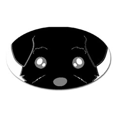 Affenpinscher Cartoon 2 Sided Head Magnet (Oval)