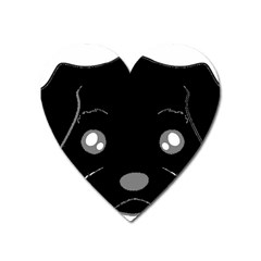 Affenpinscher Cartoon 2 Sided Head Magnet (Heart)