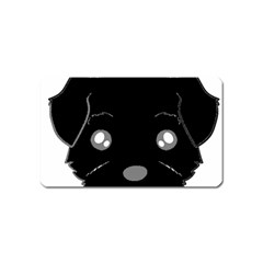 Affenpinscher Cartoon 2 Sided Head Magnet (Name Card)