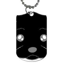 Affenpinscher Cartoon 2 Sided Head Dog Tag (One Sided)