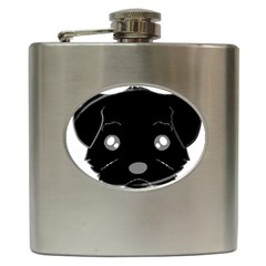 Affenpinscher Cartoon 2 Sided Head Hip Flask
