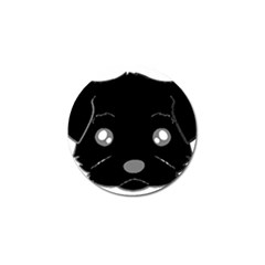 Affenpinscher Cartoon 2 Sided Head Golf Ball Marker 10 Pack