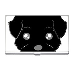 Affenpinscher Cartoon 2 Sided Head Business Card Holder