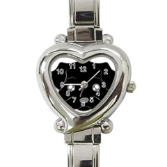 Affenpinscher Cartoon 2 Sided Head Heart Italian Charm Watch