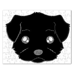 Affenpinscher Cartoon 2 Sided Head Jigsaw Puzzle (Rectangle)