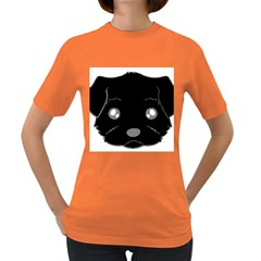 Affenpinscher Cartoon 2 Sided Head Women s T-shirt (Colored)