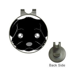 Affenpinscher Cartoon 2 Sided Head Hat Clip with Golf Ball Marker