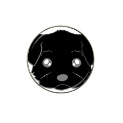 Affenpinscher Cartoon 2 Sided Head Golf Ball Marker 4 Pack (for Hat Clip)