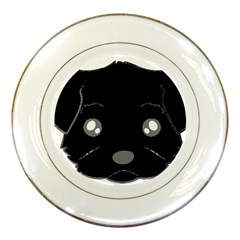 Affenpinscher Cartoon 2 Sided Head Porcelain Display Plate