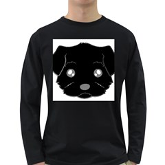 Affenpinscher Cartoon 2 Sided Head Men s Long Sleeve T-shirt (Dark Colored)